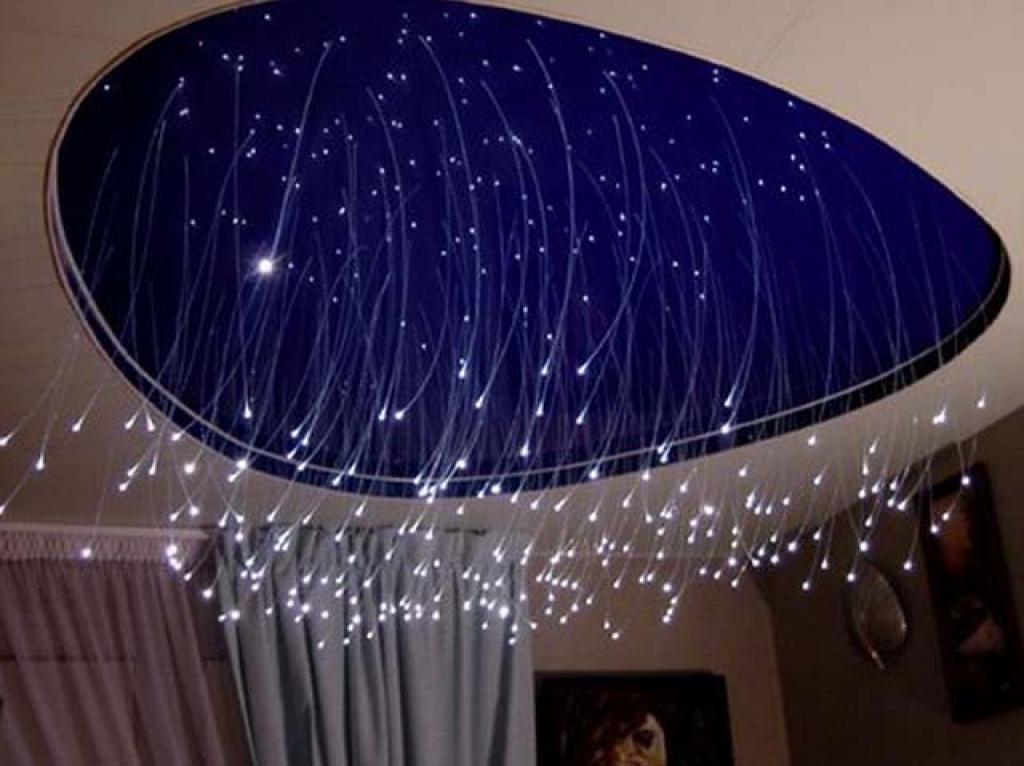 Звездное небо в натяжном потолке своими руками